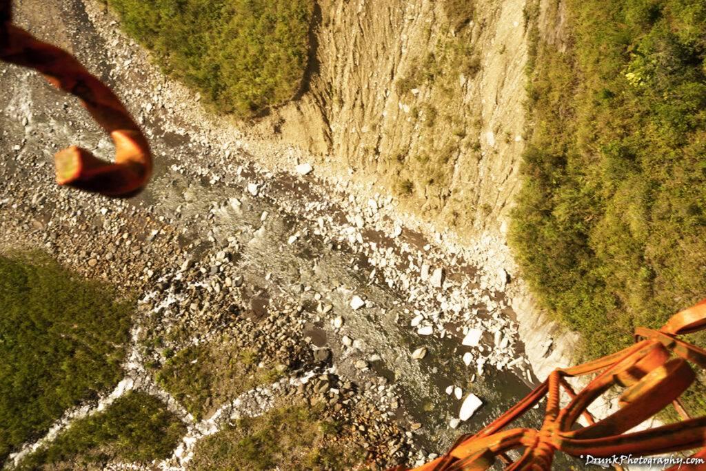 Tarabita abajo de la cascada Manto de la Novia Drunkphotography.com